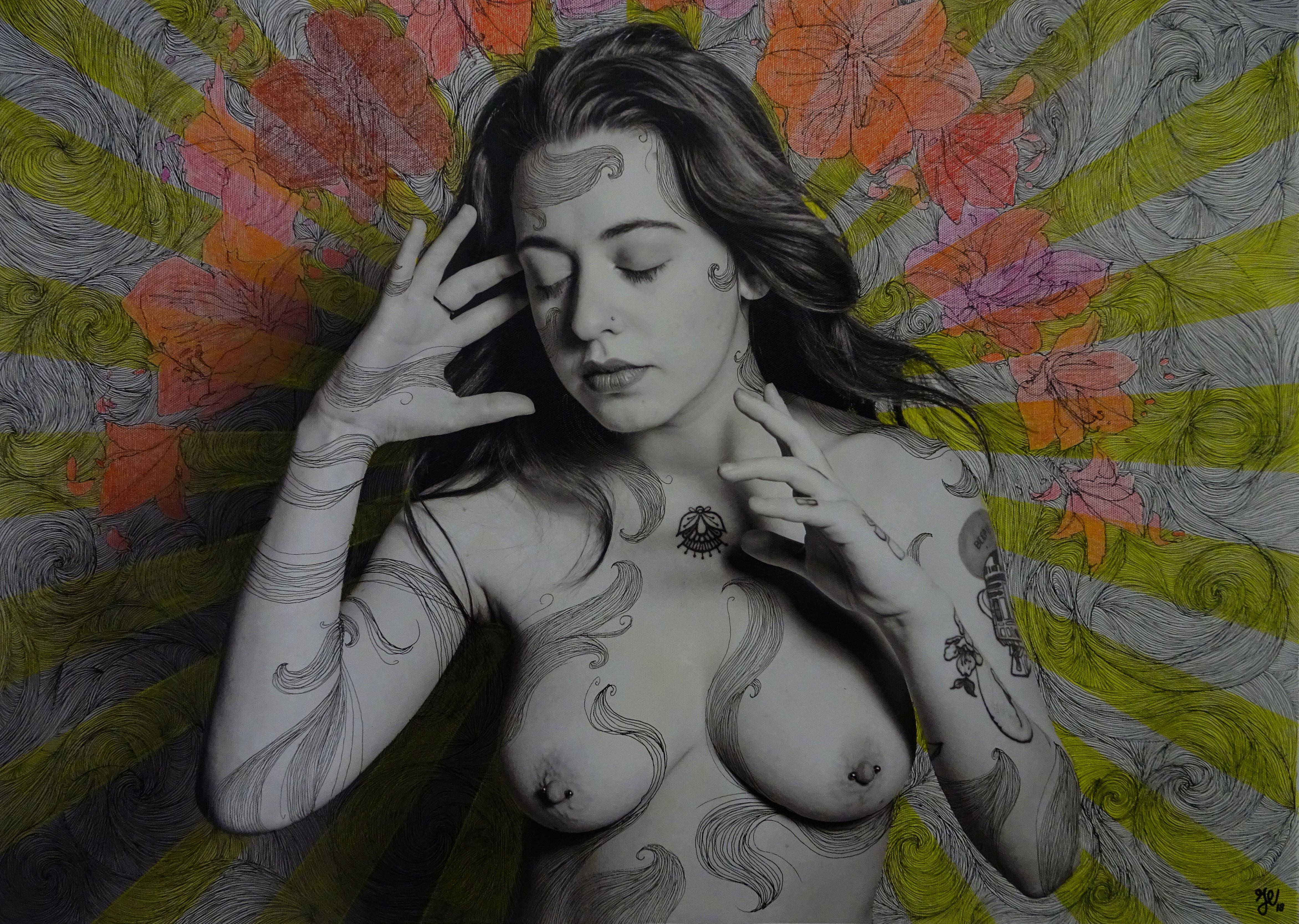 Julie Vincent sur une photo de Gabriel Capra